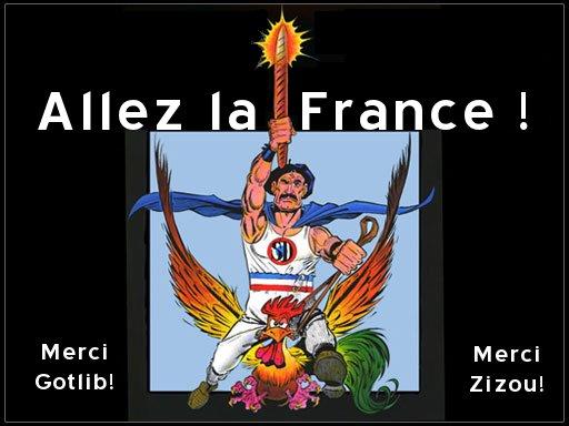 Allez la France ! Merci Gotlib ! Merci Zizou !